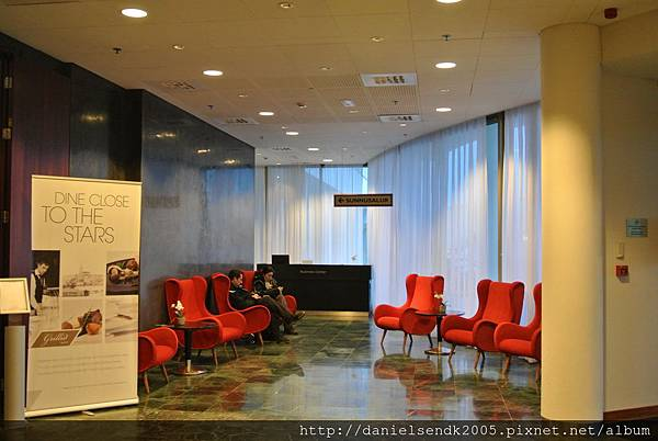 Lobby at Radisson Blu Saga Hotel