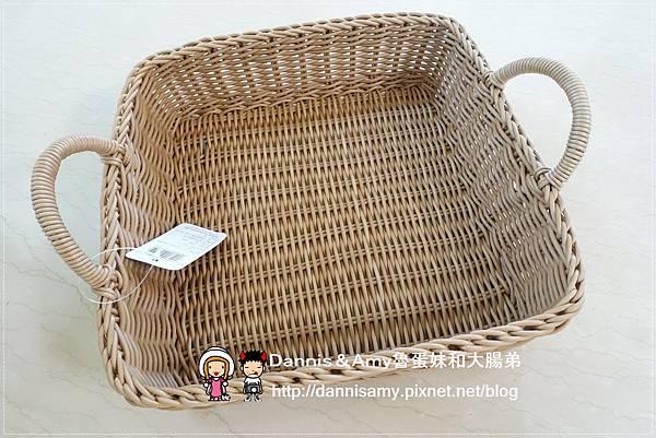 科德斯方型提把編織籃鳥巢室內小物收納籃 (3)