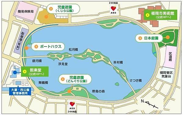 大濠公園map