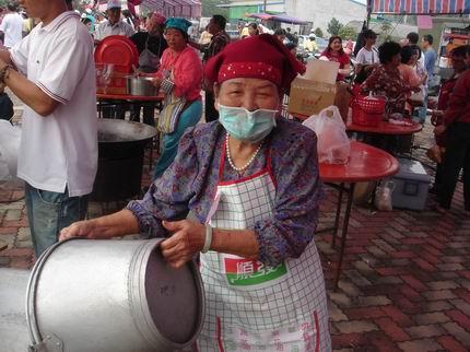 熱騰騰的飯湯煮好囉!