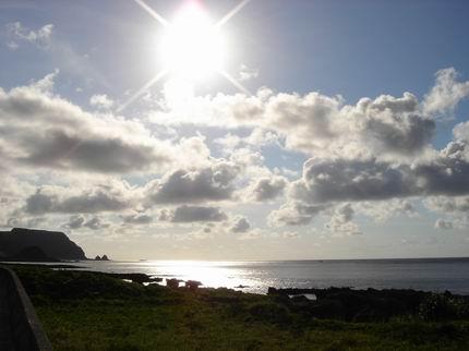 蘭嶼的太陽真不是普通的大啊!