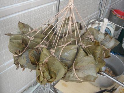 月桃葉包的粽子