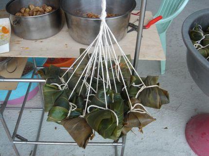 竹葉包的粽子