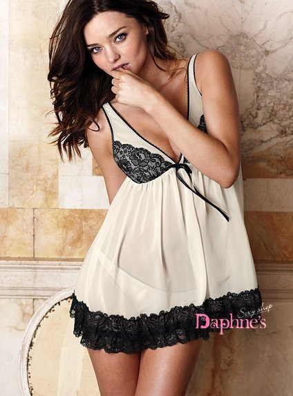 【黛芙妮性感小舖】氣質輕熟女。浪漫雪紡蕾絲睡衣(含小褲褲)