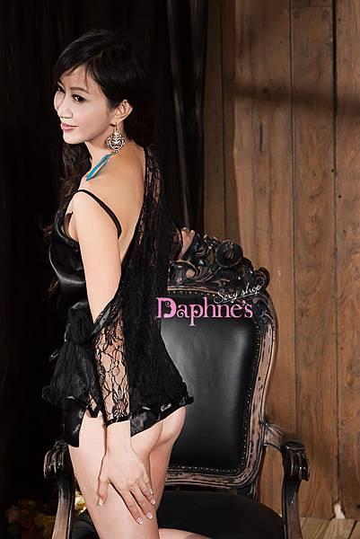 【黛芙妮性感小舖】氣質華麗絲綢睡衣+蕾絲睡袍 套組 (含腰帶)