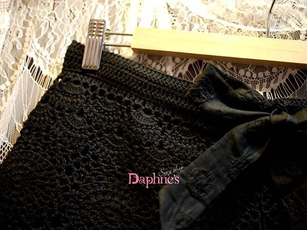 【黛芙妮性感小舖】<極美。純手勾針織短褲> 黑色 L/XL