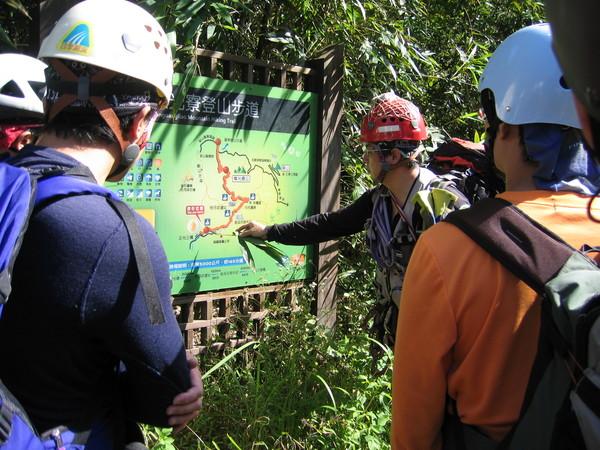 接近起溯點時,有附近數條古道的簡易解說地圖