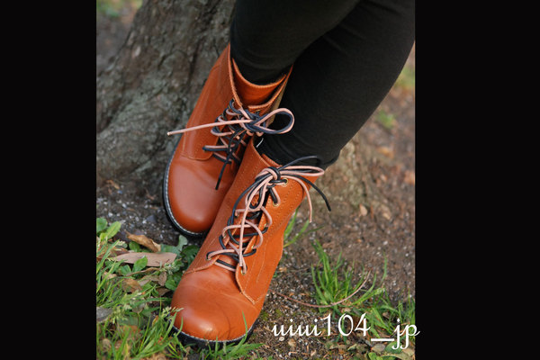 超正質感雙鞋帶短統軍靴.jpg