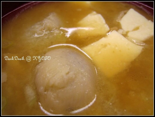 味噌豚汁(味噌豬肉湯)