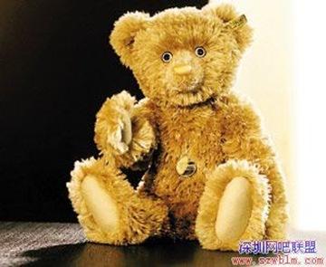 黃金絨毛泰迪熊