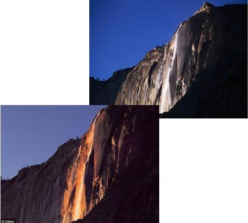 馬尾瀑布比對照