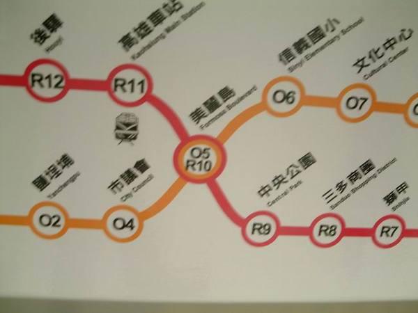 紅線橘線轉車點