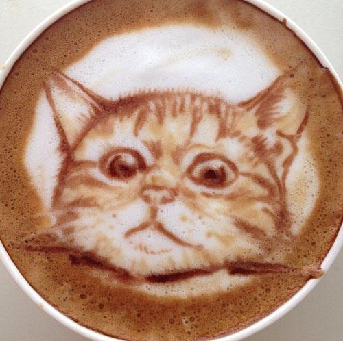 真實的咖啡拉花