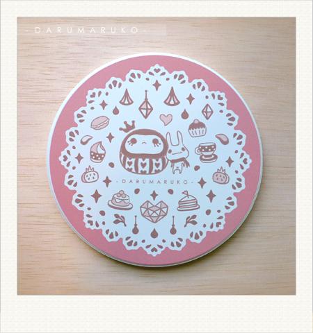 NO:CN02 陶瓷吸水杯墊-[粉色甜點餐紙款] 售價:150元/一片(限量20片)