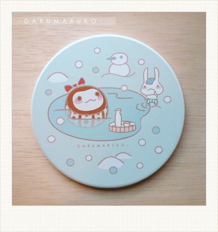NO:CN04 陶瓷吸水杯墊-[不倒歐溫泉款] 售價:150元/一片(限量10片)