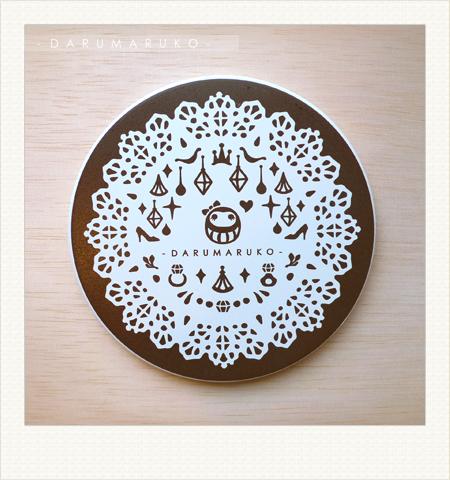 NO:CN06 陶瓷吸水杯墊-[黑色蕾絲餐紙款] 售價:150元/一片(限量30片)