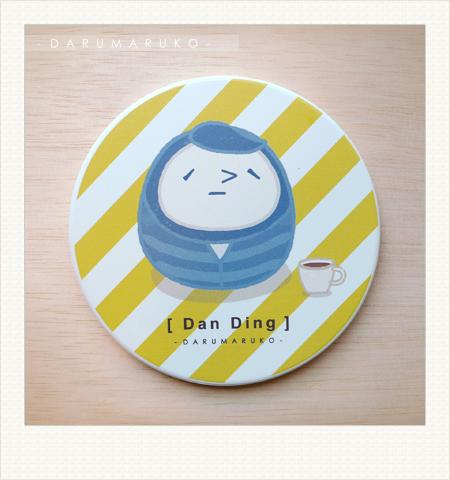NO:CN10 陶瓷吸水杯墊-[淡定紅茶款] 售價:150元/一片(限量5片)