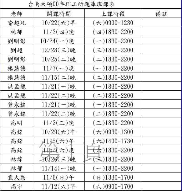 台南班00年題庫班課表.JPG