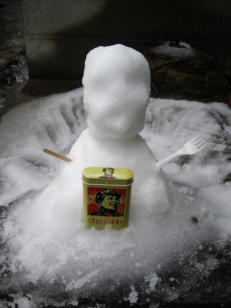 我堆的雪人