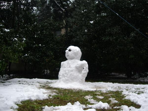 雪人與雪仗