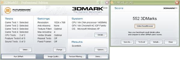 3dmark03 - 1.4G