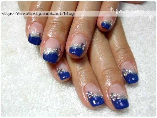 20110601。高貴靛藍斜法式