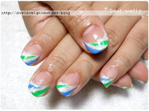 20110624。藍綠白運動風