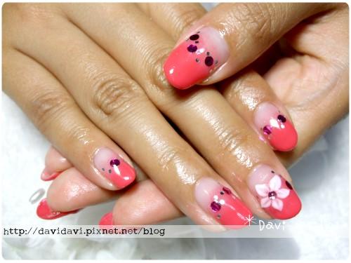 20110715。漸層朱紅x五瓣尖花