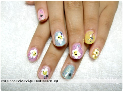 20110724。粉色系笑臉小花