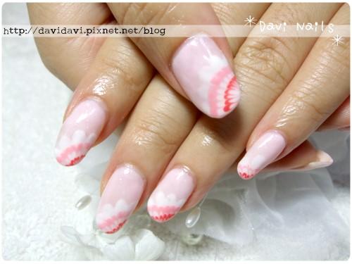 20110724。粉紅蕾絲孔雀紋