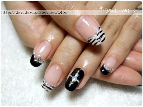20110728。黑白時尚斑馬紋