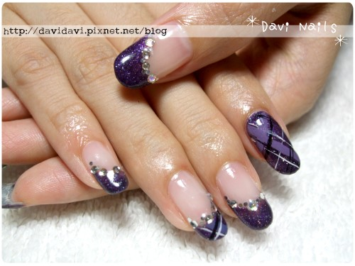 20110824。深紫格紋