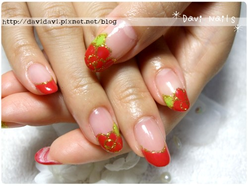 20110827。鮮紅法式花