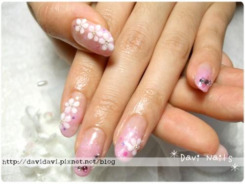 20110910。甜蜜粉紅璀璨+粉雕小花