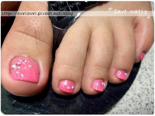 20110918。粉桃紅銀彩珍珠