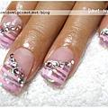 20111014。粉紫璀璨x橫條紋