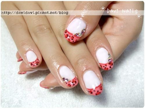 20111123。法式粉紅豹紋