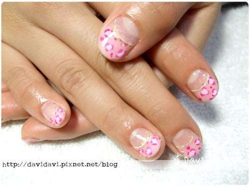 20111215。法式粉紅豹紋