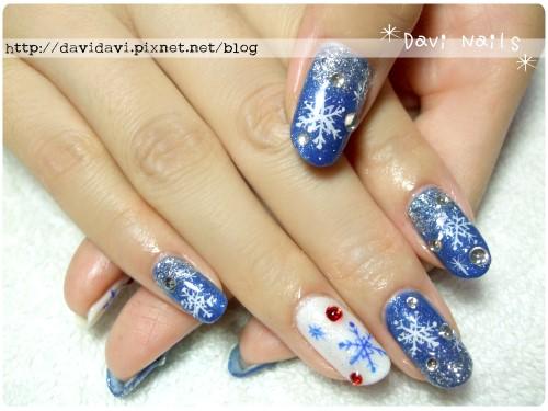 20111220。藍白璀璨雪花