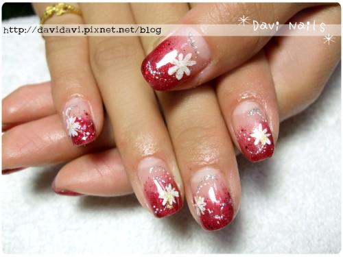20111225。喜氣紅x小雛菊