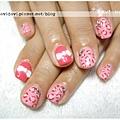 20120126。粉紅豹紋x蝴蝶結