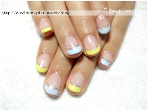 20120128。嫩黃x天藍法式
