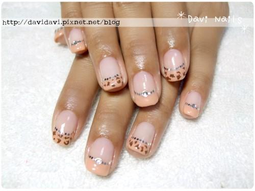 20120212。膚橘色法式動物紋