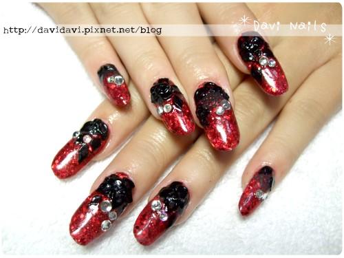 20120220。艷紅黑玫瑰