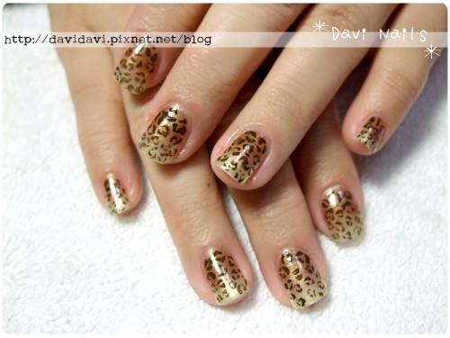 20120217。金色漸層成熟感豹紋