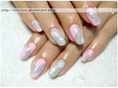 20120329。溫柔粉紅x淺灰彩帶