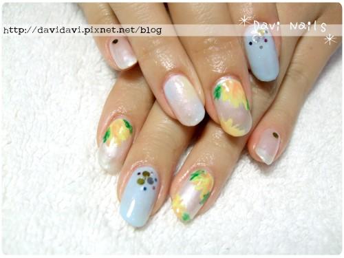 20120410。多色暈染x夏日系花朵