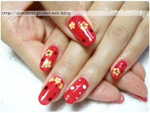 20120413。鮮紅x小花
