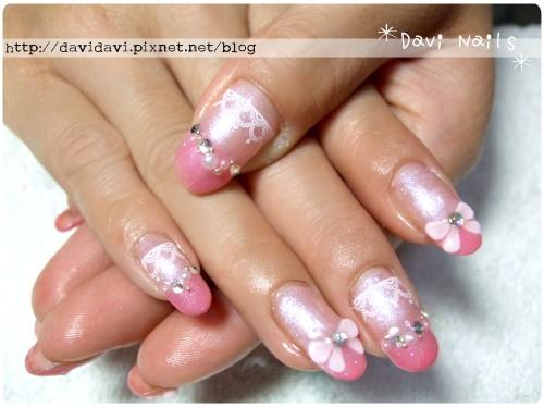 20120414。粉紅法式蕾絲
