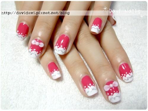 20120516。桃紅雲朵法式